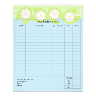 Lily Pad Small Order Form Full Color Flyer