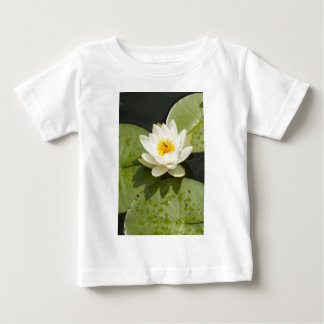 Lily Pads and White Lotus Flower Baby T-Shirt