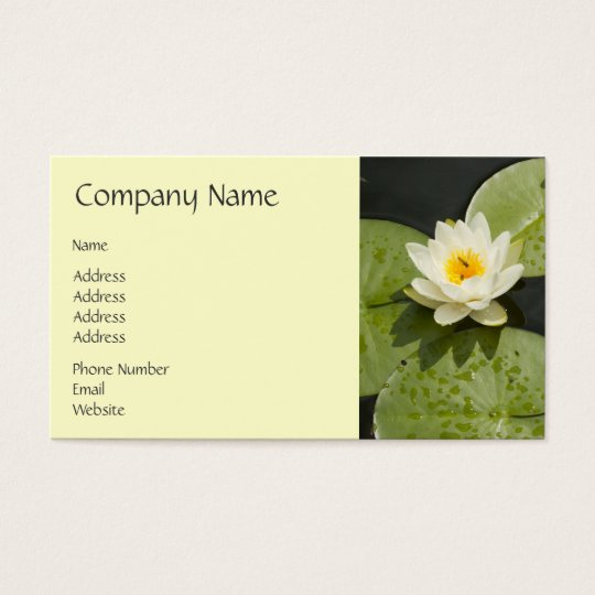 Lily Pads and White Lotus Flower Business Card