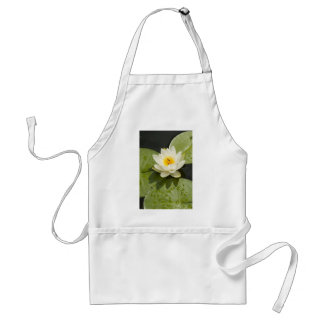Lily Pads and White Lotus Flower Standard Apron