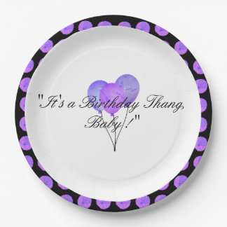 Lily-Pads-Lavender--Celebration-Birthday-Supplies Paper Plate
