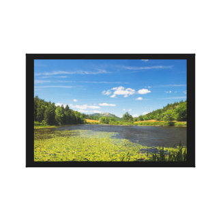 Lily Pads on Long Pond Acadia National Park Canvas Prints