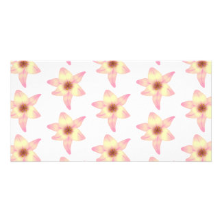 Lily Pattern. Photo Card Template