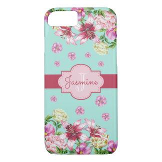 Lily & Peony Aqua iPhone 8/7 Case