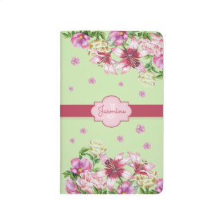 Lily & Peony Floral Mint Journals