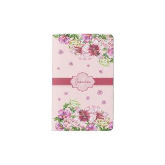 Lily & Peony Floral Pink Pocket Moleskine Notebook