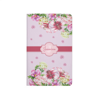Lily & Peony Floral Purple Journal