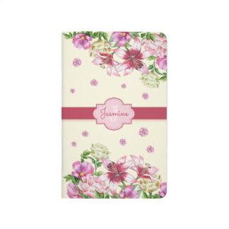 Lily & Peony Floral Yellow Journal
