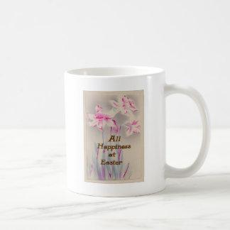 Lily Pink Purple Easter Basic White Mug