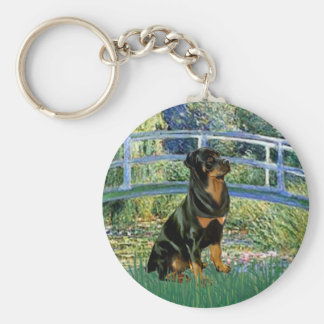 Lily Pond Bridge - Rottweiler (#5) Key Ring