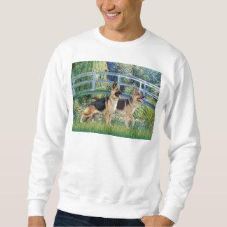Lily Pond Bridge - Two German Shepherds Sweatshirt