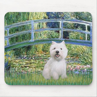 Lily Pond Bridge - Westie 2 Mouse Mat