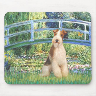 Lily Pond Bridge - Wire Fox Terrier 3 Mouse Pad
