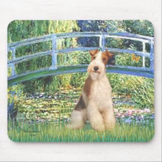 Lily Pond Bridge - Wire Fox Terrier 3 Mousepad