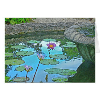 LILY POND PHOTO MANIP GREETING CARD