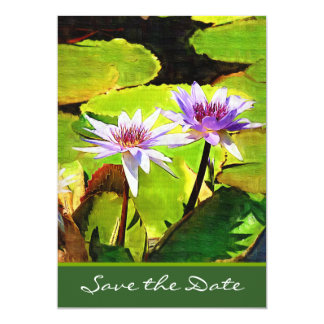 Lily Pond Save the Date Card Invites