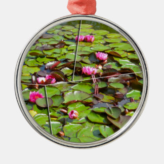 Lily pond times four christmas ornament