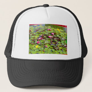 Lily pond times four trucker hat