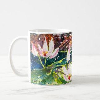 Lily Pond watercolor print Coffee mug