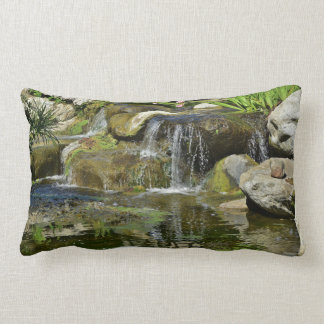 Lily Pond Waterfall Lumbar Cushion