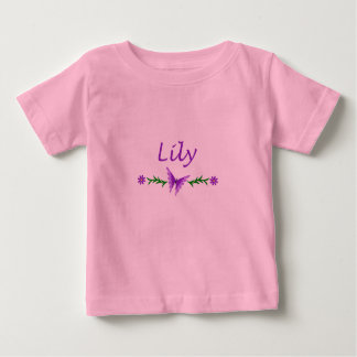 Lily (Purple Butterfly) Baby T-Shirt