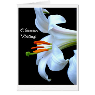 Lily Summer Wedding Save the Date Card