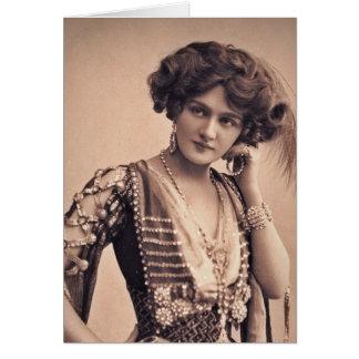 Lily Vintage Movie Star Greeting Card