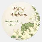 lily wedding sticker