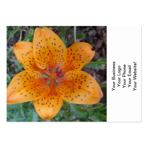 Lily Yellow Orange Speckled Business Cards