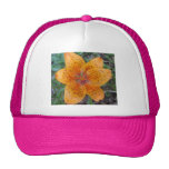 Lily Yellow Orange Speckled Mesh Hats