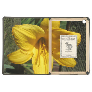 Lily Yellow Weathered Fence Case For iPad Air