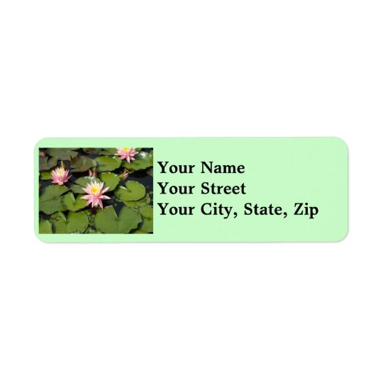 Lilypad Flowers Return Address Labels