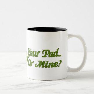 Lilypad Frog Two-Tone Coffee Mug