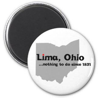 Lima, Ohio 6 Cm Round Magnet
