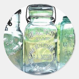 Lima Ohio Fruit Jar Antiques Vintage Mason Jars Round Sticker