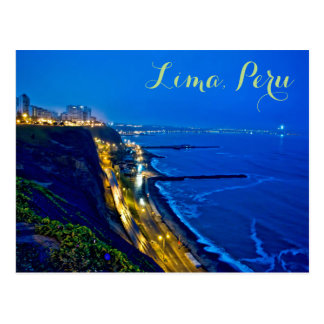 Lima, Peru, Miraflores District, S.A. Postcard