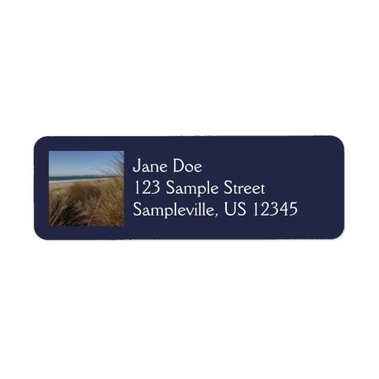 Limantour Beach at Point Reyes National Seashore Return Address Label