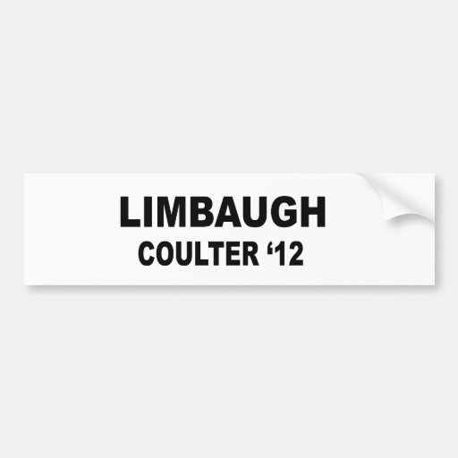 Limbaugh Coulter '12 Bumper Stickers