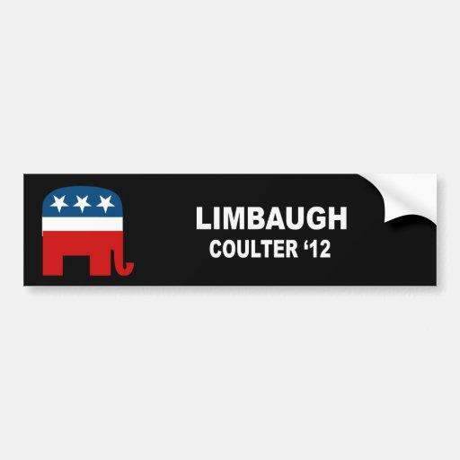 Limbaugh Coulter '12 Bumper Sticker