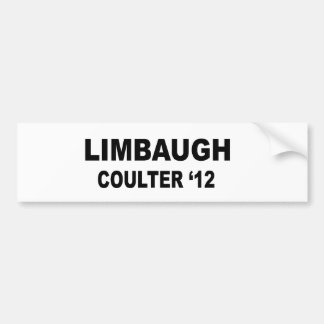 Limbaugh Coulter 12 Bumper Stickers
