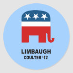 Limbaugh Coulter '12 Sticker