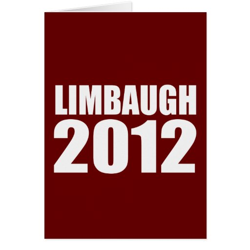 LIMBAUGH IN 2012 GREETING CARDS