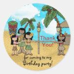 Limbo Luau Birthday Party - Thank You
