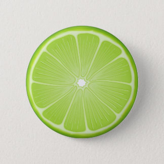 Lime 6 Cm Round Badge