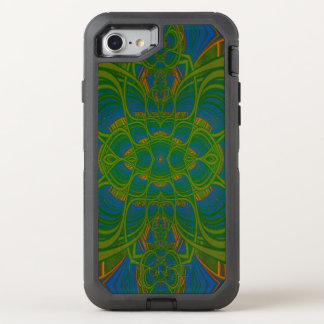 Lime Abstraction Fractal Abstract OtterBox Defender iPhone 8/7 Case