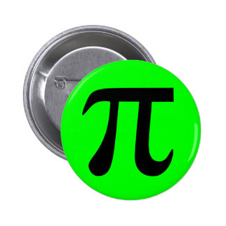 Lime and Black Pi Button