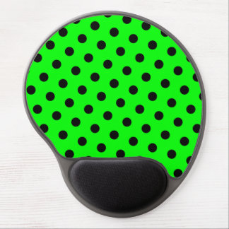 Lime and Black Polka Dots Gel Mouse Mat