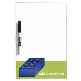 Lime and Blue Building Black Toy Custom Text Dry Erase Board