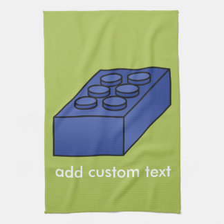Lime and Blue Building Black Toy Custom Text Hand Towel
