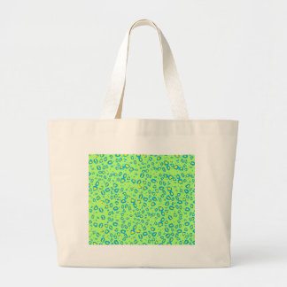 lime and blue cheetah large tote bag